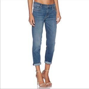 MOTHER the dropout cropped jeans medium kitty 30